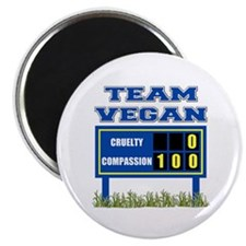 "Team Vegan 2.25"" Magnet (10 pack)"