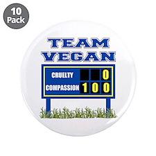 "Team Vegan 3.5"" Button (10 pack)"