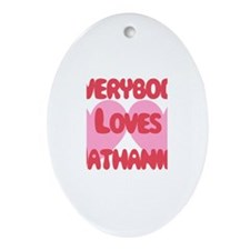 Everybody Loves Nathaniel Oval Ornament