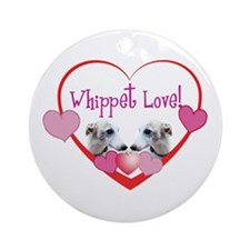 Whippet Love Ornament (Round)