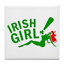Irish Redhead! Tile Coaster