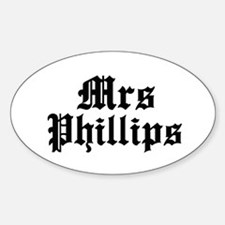 Mrs Phillips Oval Decal