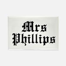 Mrs Phillips Rectangle Magnet