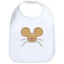 Mouse Head Brown Bib
