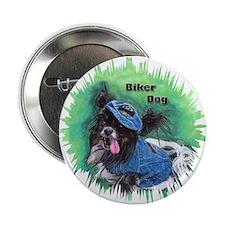 """Papillon - Biker Dog 2.25"""" Button"""