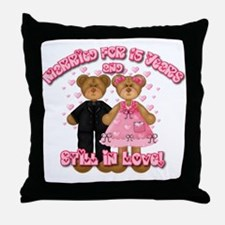 15th Anniversay Bears Throw Pillow