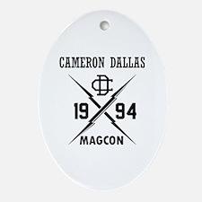 Cute Cameron Oval Ornament