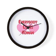 Everybody Loves Rowan Wall Clock