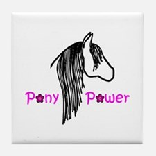 Pony Power Pink Tile Coaster
