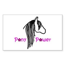 Pony Power Pink Rectangle Decal