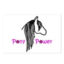 Pony Power Pink Postcards (Package of 8)