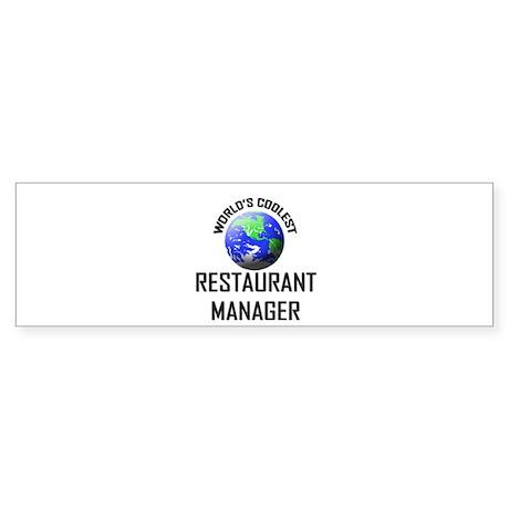 World's Coolest RESTAURANT MANAGER Sticker (Bumper