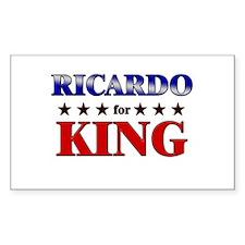 RICARDO for king Rectangle Decal