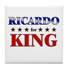 RICARDO for king Tile Coaster