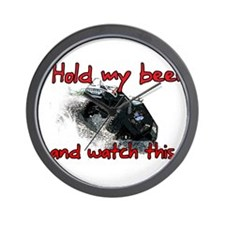 Hold My Beer Wall Clock