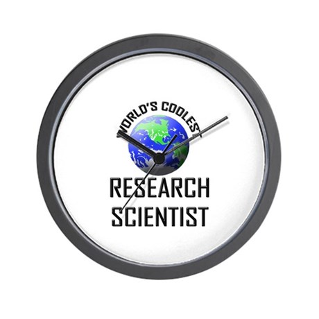 World's Coolest RESEARCH SCIENTIST Wall Clock