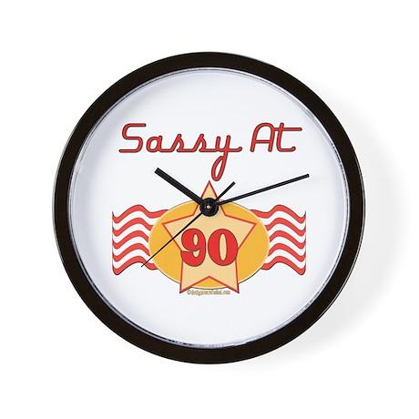 Sassy at 90 Years Wall Clock