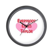 Everybody Loves Taylor Wall Clock
