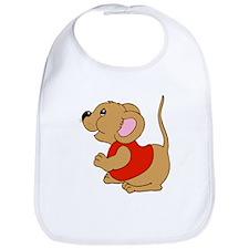 Brown Baby Mouse Bib