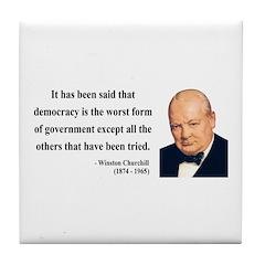 Winston Churchill 1 Tile Coaster