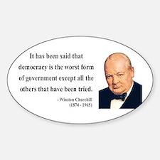 Winston Churchill 1 Oval Decal
