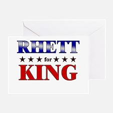 RHETT for king Greeting Card