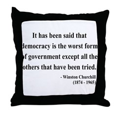Winston Churchill 1 Throw Pillow