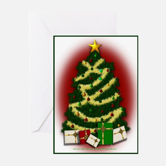 Christmas Tree With Gifts Greeting Cards (Pk Of 10