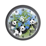 Cute panda Wall Clocks