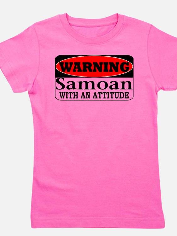 Warning! Samoan w/ an Attitud T-Shirt