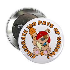 "100 Days (Dog & Crayon) 2.25"" Button"