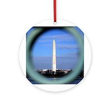 Washington Monument Ornament (Round)