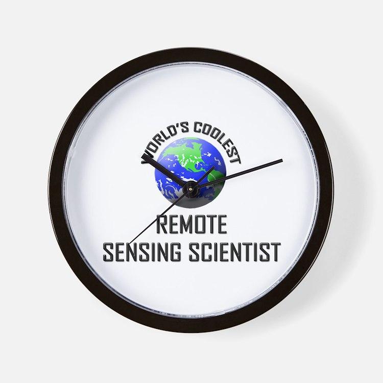 World's Coolest REMOTE SENSING SCIENTIST Wall Cloc