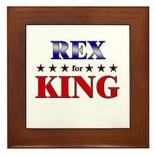 REX for king Framed Tile