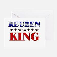 REUBEN for king Greeting Card