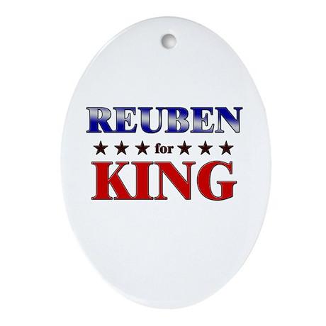 REUBEN for king Oval Ornament