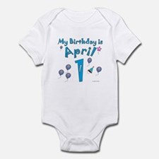 April 1st Birthday Infant Bodysuit