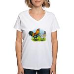 Ameraucana Chickens Women's V-Neck T-Shirt