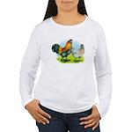 Ameraucana Chickens Women's Long Sleeve T-Shirt