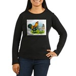 Ameraucana Chickens Women's Long Sleeve Dark T-Shi