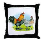 Ameraucana Chickens Throw Pillow
