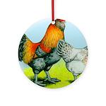 Ameraucana Chickens Ornament (Round)