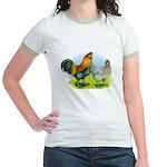 Ameraucana Chickens Jr. Ringer T-Shirt