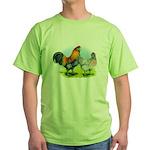 Ameraucana Chickens Green T-Shirt