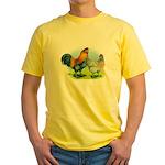 Ameraucana Chickens Yellow T-Shirt