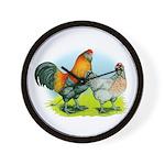 Ameraucana Chickens Wall Clock