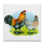 Ameraucana Chickens Tile Coaster