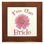 Bride Gerber Daisy Framed Tile