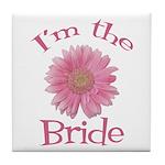 Bride Gerber Daisy Tile Coaster