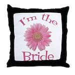 Bride Gerber Daisy Throw Pillow